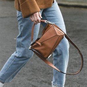 Designer inspired leather bag lo*we crossbody